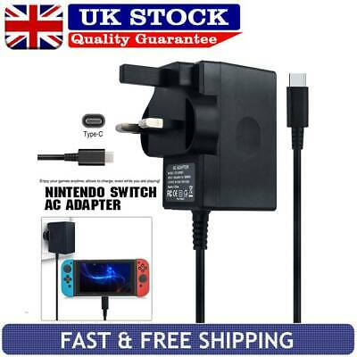 Nintendo Switch Mains Adaptor / Adapter Charger Plug UK Fast Charging Power