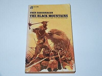 The Black Mountains - Fred Saberhagen - Ace Book 1St Pbo 1971 Sci-Fi Sf