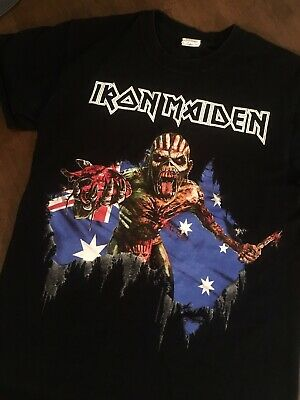 Iron Maiden the Book of Souls World Tour T-Shirt Australian Tour Dates SMALL