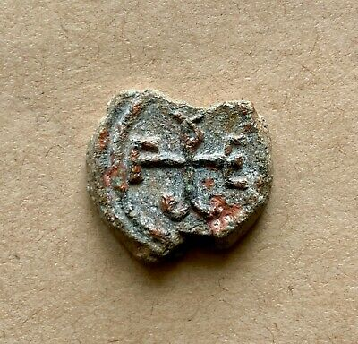Byzantine lead seal/siegel of George illoustrios (6th/7th cent.). A nice piece!