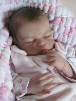 Realistic Reborn Baby Doll - Closed Eyes - Vinyl Limbs Soft body - Outfits Inc.