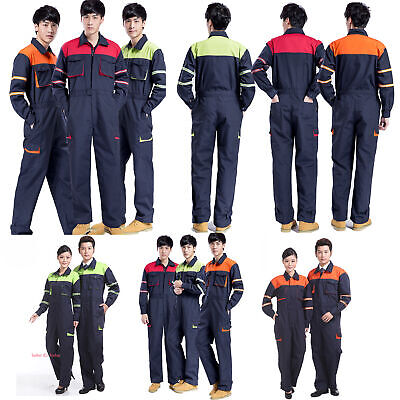 Safety Mechanic Coveralls Overalls Jumpsuit Industrial Work Boilersuit Workwear