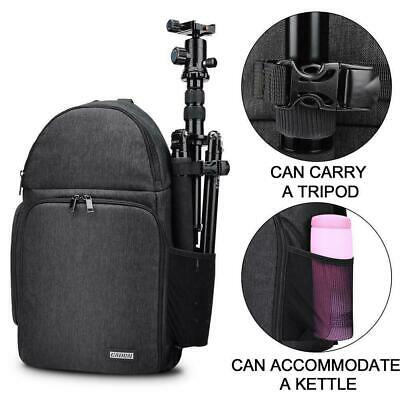 Camera Bag Case Waterproof Sling Backpack For Canon DSLR Nikon Sony T8Q9