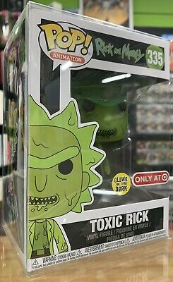 Funko Pop! Animation #335 Rick and Morty Toxic Rick Pop Target Exclusive DAMAGED