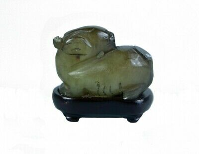 Late Ming Dynasty Carved Jade Mythical Beast 17th Century