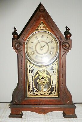 "Rare New Haven ""Derby"" (1880) Shelf/Mantle/Steeple Clock - Outstanding Case"