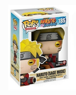 Funko Pop! Animation #185 Naruto (Sage Mode) Game Stop Exclusive NOT MINT