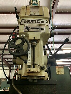 HURCO Hawk 40 SSM 3 Axis CNC Bed Mill In Good Working Condition