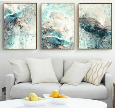 Wall Art Abstract Canvas Painting Picture Living Room Decoration Waterproof Ink