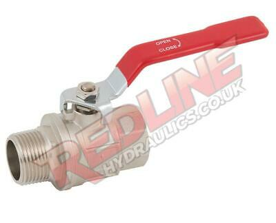 Hydraulic Ball Valve 2 Way Bsp Male Female Lever Handle Vlmf ( Redline )