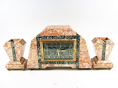 French Art Deco Mantle Clock,  c1925, Just serviced.