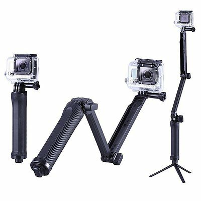 Handle 3-way Grip Stabilizer Mount with Tripod Adapter for GoPro HERO Cameras G