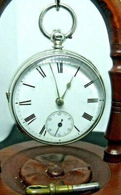 Antique  Jeweled Fusee Pocket Watch Solid Silver Owen Simmons. Fareham 1895 Mint