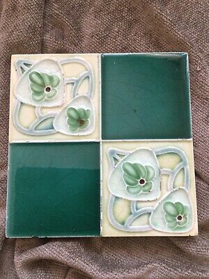 Beautiful Art Nouveau Deco antique tile
