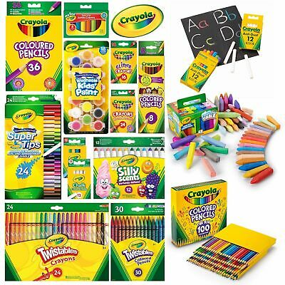 Crayola Crayons, Markers, Colouring Pencils, Paints, Supertips, Chalk and more!