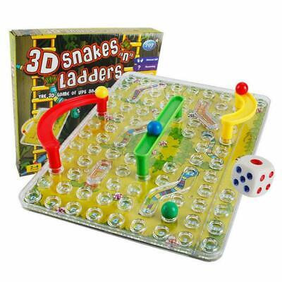 3D Snakes And Ladders Kids Children Adult Family Board Traditional Fun Game Play