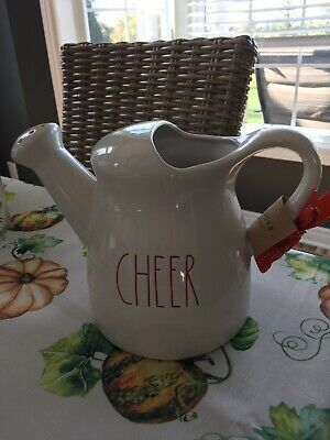 Rae Dunn CHEER Watering Can Christmas Edition New