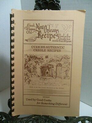 FAMOUS OLD NEW ORLEANS RECIPES Cookbook Used in The South More Than 200 Years LA
