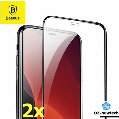 2x Genuine BASEUS Tempered Glass Screen Protectors for New iPhone 11/11 Pro Max