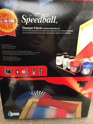 Speedball All in one opaque Fabric screen printing Kit - Model 4519