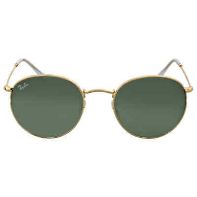 Ray Ban Green Classic G-15 Round Metal Sunglasses RB3447 001 53
