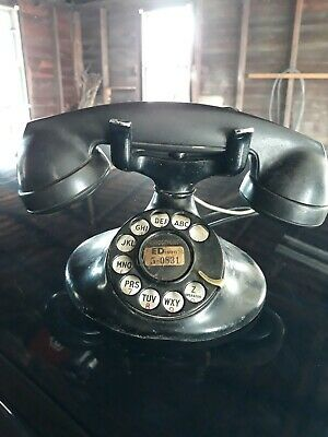 VINTAGE ROTARY PHONE BELL SYSTEM Western Electric F1 30s or 40s ? WOW