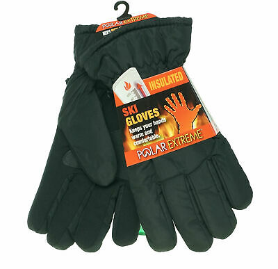 Polar Extreme Heat Men/'s Insulated Thermal Lined Stretch Gloves Black
