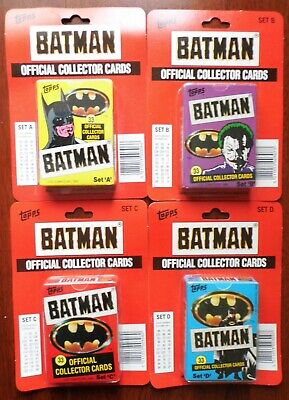 Batman The Movie - For Sale Is A Rare Topps Uk 1989 Large Size Set In 4 Boxes