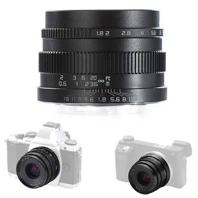 Zonlai 22mm f1.8 Large Aperture APS-C Ultra Wide Angle Lens for Fuji FX w/Cover