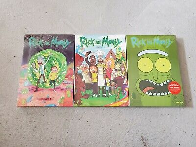 Rick and Morty Seasons 1 2 3 DVD Bundle Brand New Free Shipping!