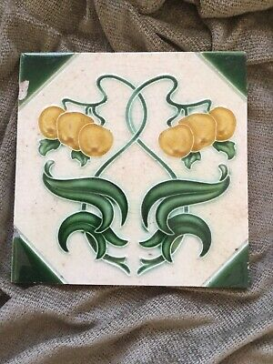 Beautiful Art Nouveau antique tile Henry Ollivant