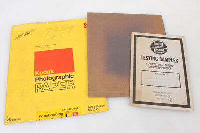 Photographic Paper Outdated Lot Of 3