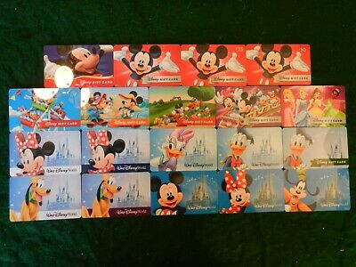 Lot Of Nineteen (19) All Different Collectible Only *Disney* Gift Cards