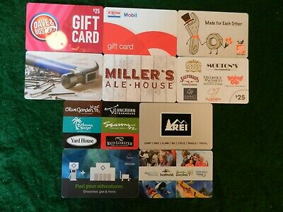 Lot Of Ten (10) All Different Collectible Only *Gift Cards*