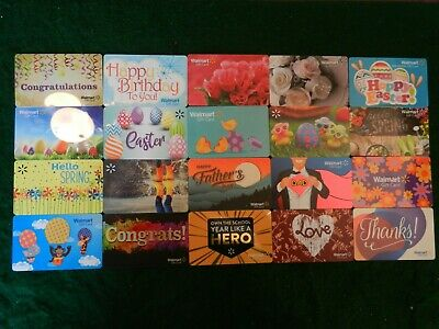 Giant Lot Of Thirty-Four (34) Different Collectible Only *Walmart* Gift Cards