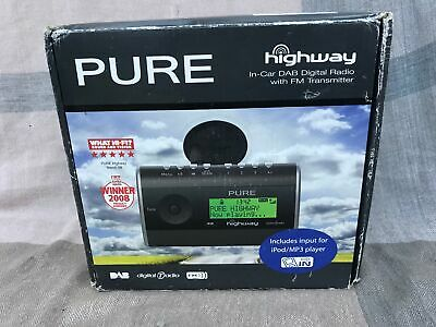 Pure Highway In Car DAB Digital Radio + FM Transmitter & MP3 Player Input #274
