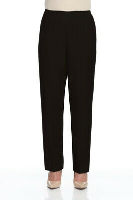 Alfred Dunner Women's Plus Size Classics Proportioned Pull-On Pants Short Length