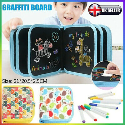 Erasable Magnetic Drawing Board Pad+ Pen Xmas Gift Educational Kids Doodle Toys