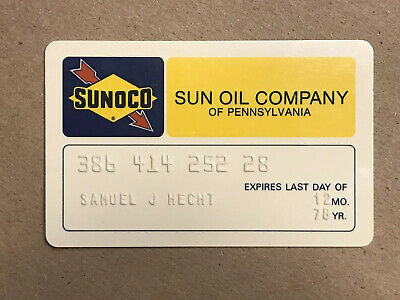 Vintage 1978 Sunoco Sun Oil Company Of Pennsylvania Pa Gas Credit Charge Card
