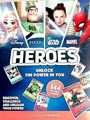 SAINSBURY'S HEROES 2019 COLLECTORS ALBUM ***BRAND NEW*** + 5 pack of cards