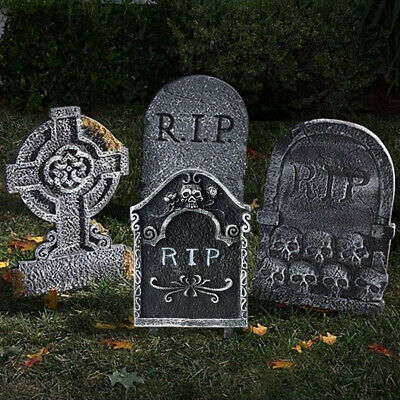 Halloween Stone Grisly Props Skeleton Tombstone Haunted House Party Decoration