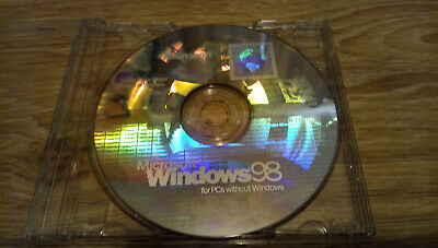 Genuine Windows 98 Second Edition Operating System CD-ROM