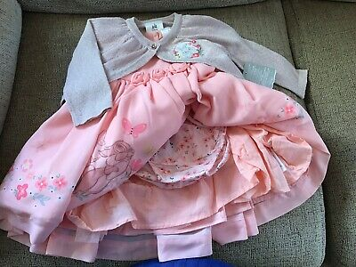 Disney baby girl dress And Cardigan 6 To 9 months ,new with tags