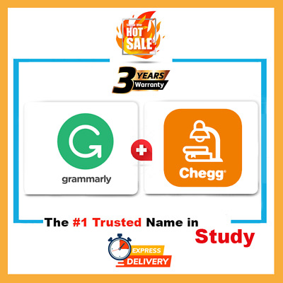 Grammarly Premium 3 Year And chegg 4 weeks Subscription Account Fast Support
