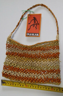 Vintage Aboriginal hand woven dilly bag - from Northern Territory - Injalak