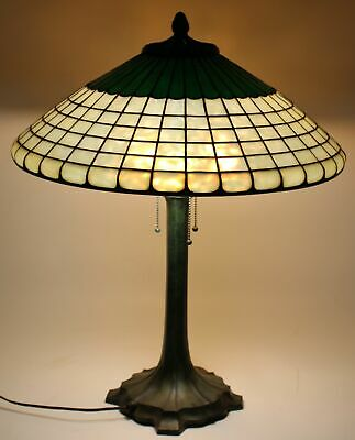 Rare Macdonald Arts & Crafts Stained/Leaded Glass Lamp Boston Mass.