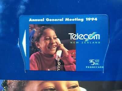 Mint New Zealand Annual General Meeting 1994 Phonecard Pack