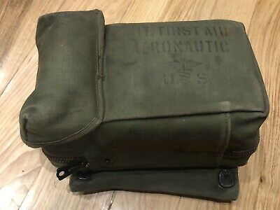 WW2 US Army Air Corps FIRST AID KIT Pilot - Complete!