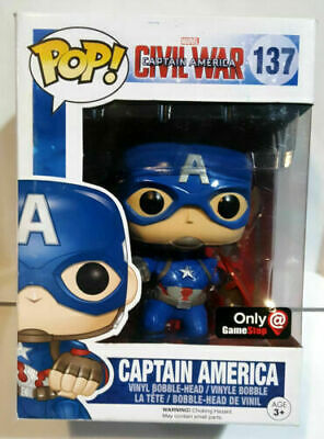 New In Stock Funko Pop Marvel Civil War Captain America #137 Exclusive Vaulted