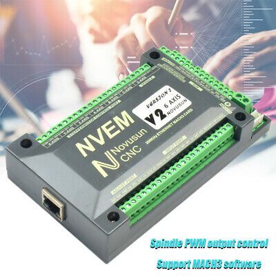 6 Axis Controller MACH3 Ethernet Interface Motion Control Card Board NVEM CNC UK